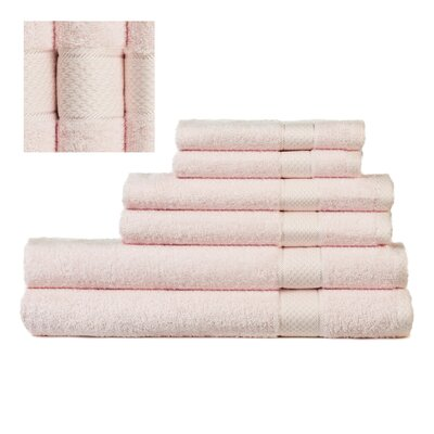 Myona 6 Piece Towel Set Color: Light Pink