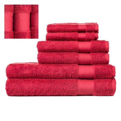 Myles Luxury 6 Piece Towel set Color: Burgendy