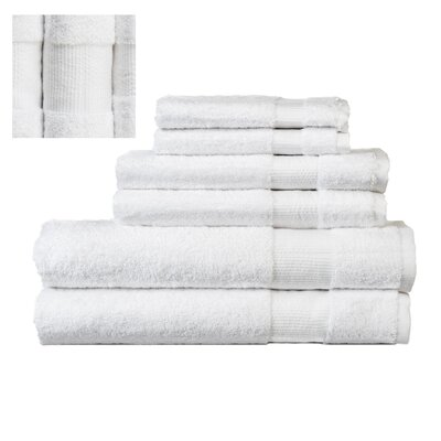 Myles Luxury 6 Piece Towel set Color: White
