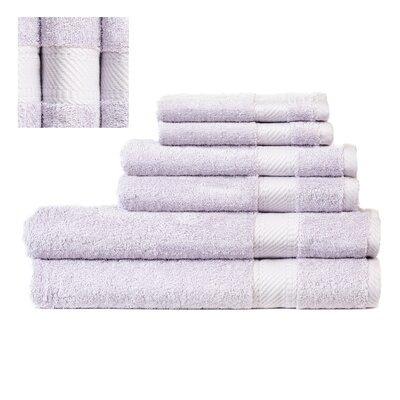 Myles Luxury 6 Piece Towel set Color: Light Lilac