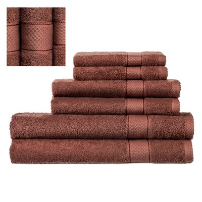 Myona 6 Piece Towel Set Color: Cinnamon