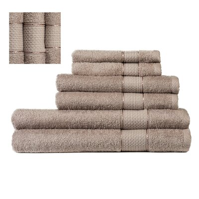 Myron Superior 6 Piece Towel Set Color: Beige