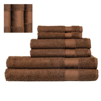 Myles Luxury 6 Piece Towel set Color: Brown