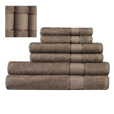 Myron Superior 6 Piece Towel Set Color: Dark Beige