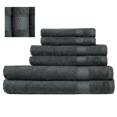 Myona 6 Piece Towel Set Color: Dark Green