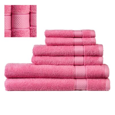 Myona 6 Piece Towel Set Color: Peach