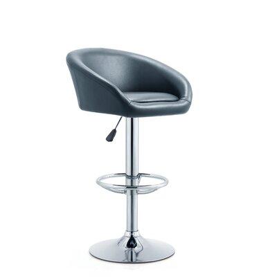 Latania Adjustable Height Swivel Bar Stool Seat Color: Black