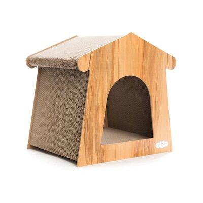Premium Little House Ash Cat Scratching Board Color: Nature