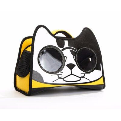 Premium Cat Smile Face Pet Carrier Color: Yellow