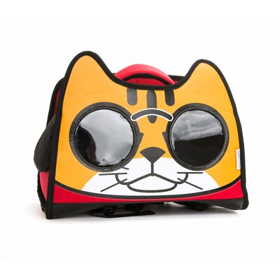 Premium Cat Smile Face Pet Carrier Color: Red