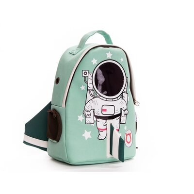 Premium Cat Smile Face Astronaut Pet Carrier Color: Light Green