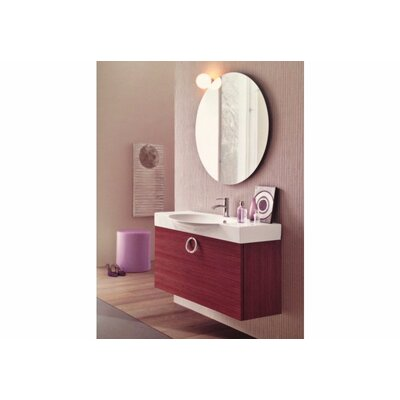 Jaquelyn Rock 96 Single Bathroom Vanity with Mirror