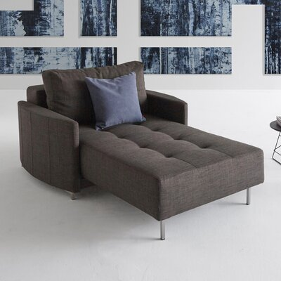 Home Chaise Lounge Upholstery: Brown Begum