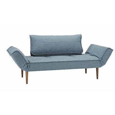 Zeal Deluxe Convertible Sofa Upholstery: Basic Gravel, Leg Finish: Brass