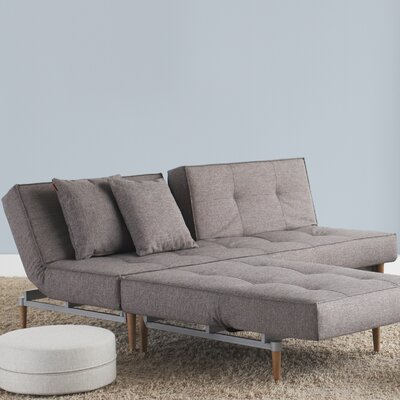 Convertible Sofa Upholstery: Light Blue, Leg Finish: Stainless Steel