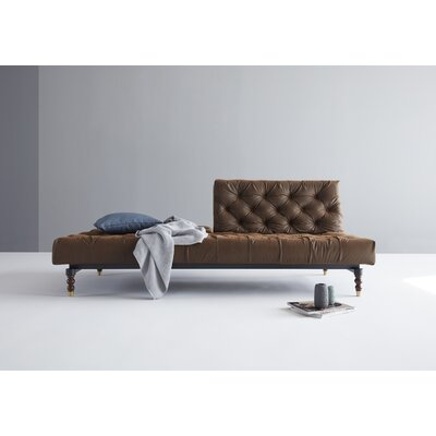 Chesterfield Convertible Sofa Upholstery: Brown Vintage, Leg Finish: Retro