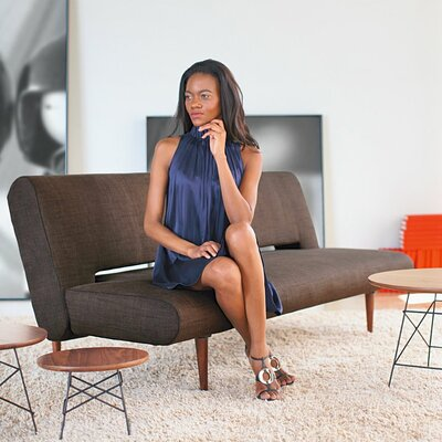 Unfurl Sofa Color: Brown