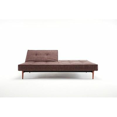 Convertible Sofa Upholstery: Dark Brown, Leg Finish: Walnut