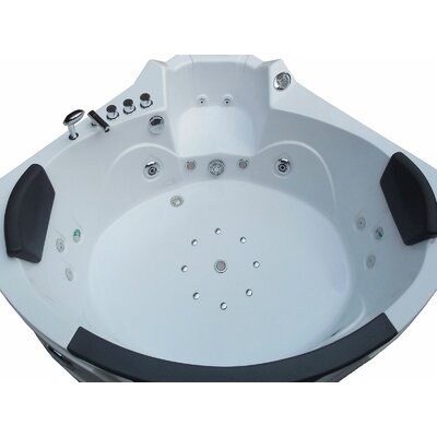Whirlpool Bathtub Corner Hydrotherapy 59 x 59 Color: White