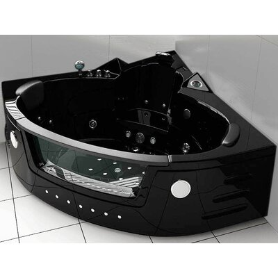 Whirlpool Bathtub Corner Hydrotherapy 59 x 59 Color: Black