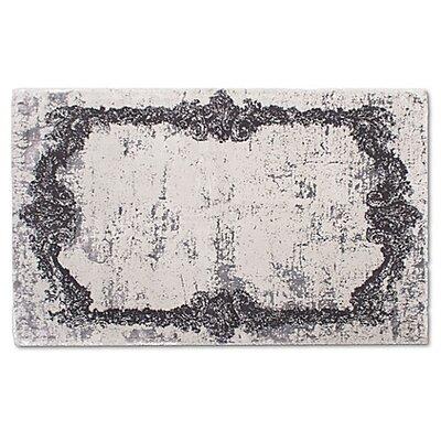 Verbrande Artifaq Tulos Gray Area Rug Rug Size: 284 x 175