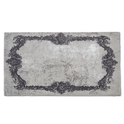 Verbrande Artifaq Tulos Gray Area Rug Rug Size: 5 x 3