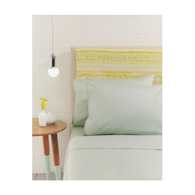 Nessa Solid Pillow Case Color: Mint, Size: Standard/Twin