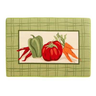 Veggie Plaid Bath Rug