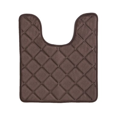 Diamonds Bath Rug Color: Chocolate