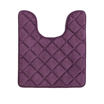 Diamonds Bath Rug Color: Purple