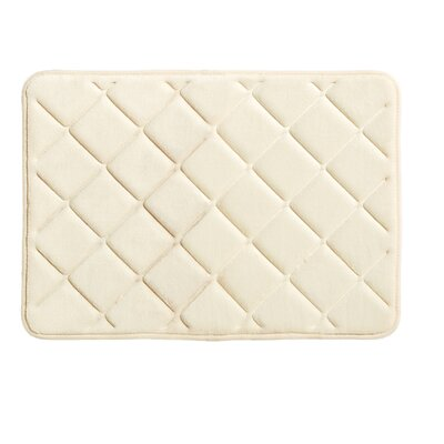 Diamonds Bath Rug Size: 0.5 H x 17 W x 24 L, Color: Vanilla