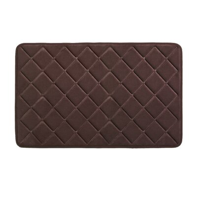 Diamonds Bath Rug Size: 0.5 H x 21 W x 34 L, Color: Chocolate