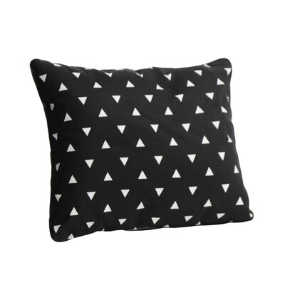 Triangle Cotton Lumbar Pillow Color: Black, Size: 12