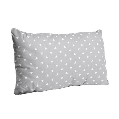 Triangle Cotton Lumbar Pillow Color: Storm Gray, Size: 16 x 26