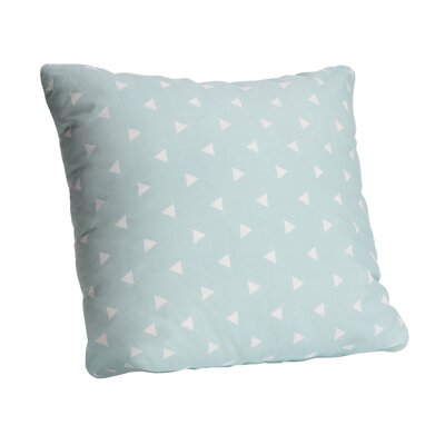 Triangle Cotton Throw Pillow Color: Ocean Spray