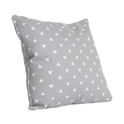 Triangle Cotton Throw Pillow Color: Storm Gray