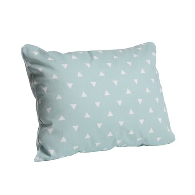 Triangle Cotton Lumbar Pillow Color: Ocean Spray, Size: 12 x 16