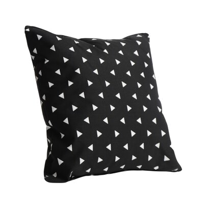 Triangle Cotton Throw Pillow Color: Black