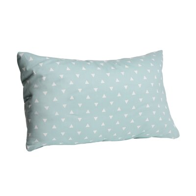 Triangle Cotton Lumbar Pillow Color: Ocean Spray, Size: 16 x 26