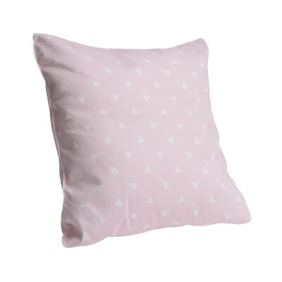 Triangle Cotton Throw Pillow Color: Soft Pink