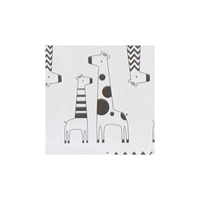 Giraffe Nursing Bed Rest Pillow Color: Black