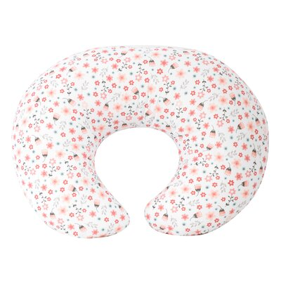 Zuri Garden Flower Nursing Bed Rest Pillow Color: Pink
