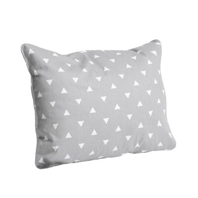 Triangle Cotton Lumbar Pillow Color: Storm Gray, Size: 12 x 16