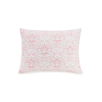 Meaghan Floral Sham Color: Coral