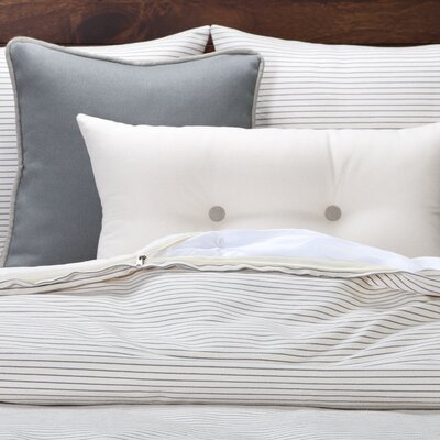 Strothers Striped Duvet Set Size: Queen