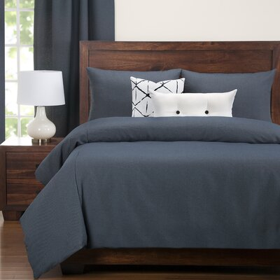 Perrine Contemporary Navy Duvet Set Size: Twin