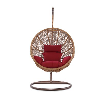 Eliott Swing Chair with Stand Cushion Color: Red MTNA2141 43649032
