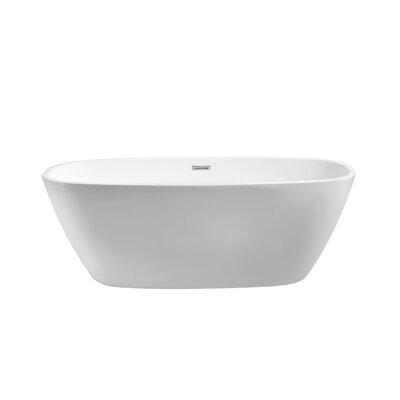 59 x 28.3 Freestanding Soaking Bathtub