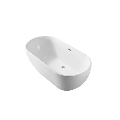 59 x 23 Freestanding Soaking Bathtub