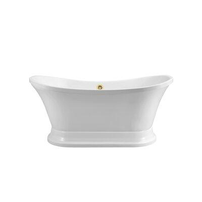 60 x 26.4 Freestanding Soaking Bathtub Color: Gold